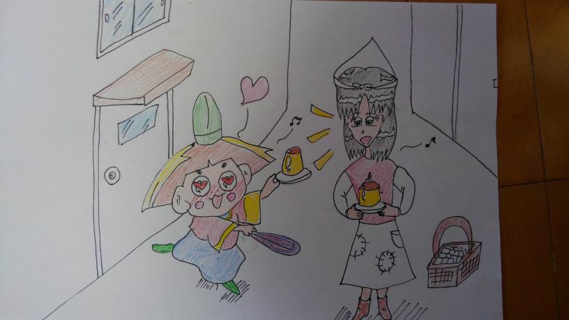 初めて、おじゃる丸と言うキャラを、試しにイラストで描いてみました。✋ おじゃる丸と、あのマッチ売りの少女の、コラボで御座います。 「おお!!ソナタと、貴女(アナタ)をしって、マロはクラクラ...