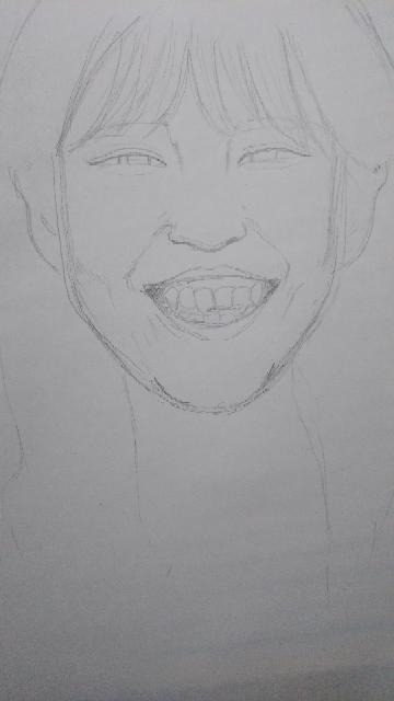 美女(知り合い)の似顔絵を描いてみました。 感想をなるべく詳しく宜しくお願い致します
