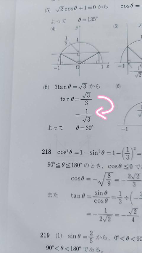 数1の三角比の問題なのですが、この式変形はどういうメカニズムですか? 至急教えてくださいm(*_ _)m