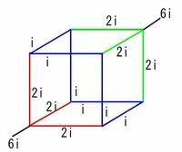 立方体の回路について。 抵抗値は全て等しいです。 電源を繋いでる所から終わりまでの電圧を求める時、それぞれ3つのゾーンで電圧が等しいから、全体としてはその3つをそれぞれひとつの回路として見て電圧を足して求めるという認識で大丈夫でしょうか?