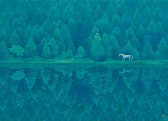 瞑想の際にどんなイメージを浮かべることが多いですか?私は東山魁夷の「緑響く」の映像が浮かんできて、この湖の辺りで座禅を組んで瞑想している絵が浮かんできます