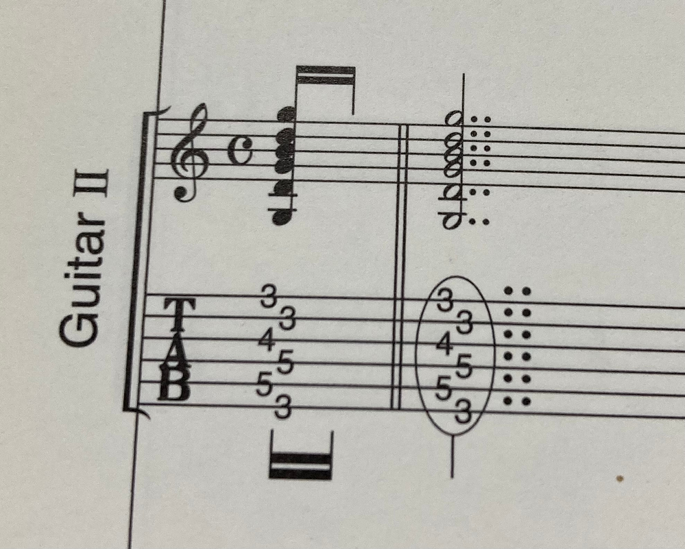 バンドスコア(ギターTAB譜)についてです。 この数字の横のてんてんはどういう意味ですか???