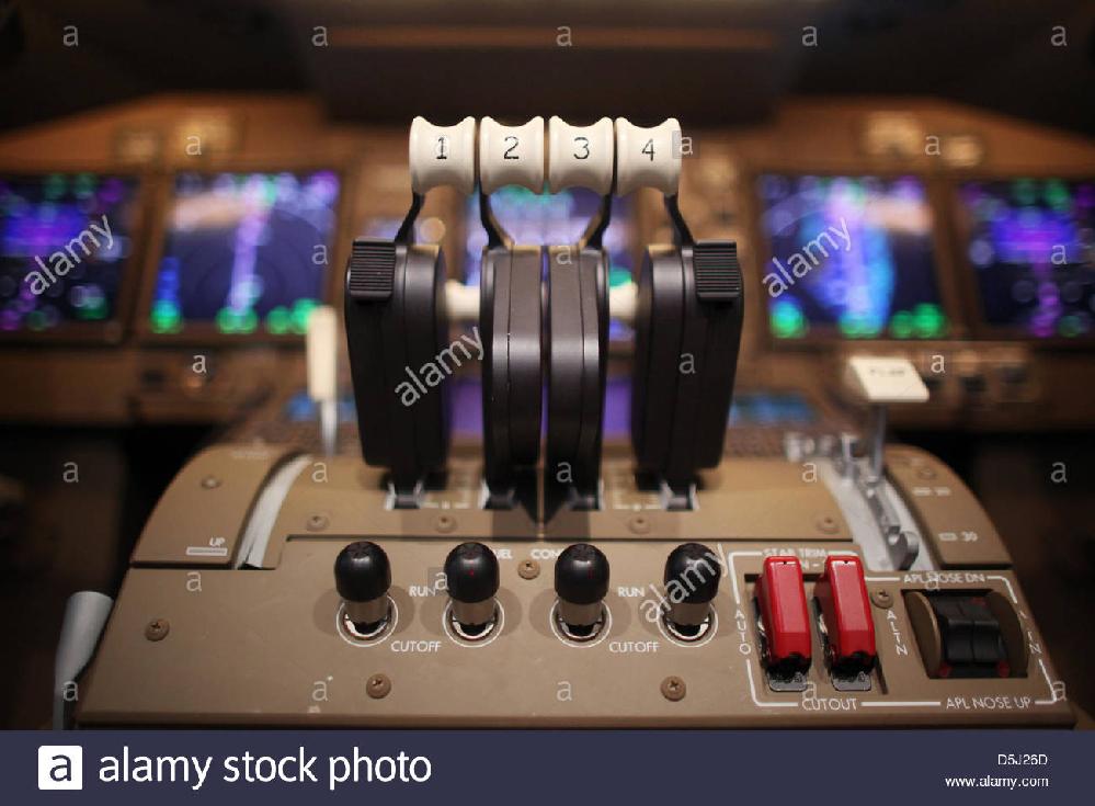 飛行機のスロットルレバーってどんな仕組みなんですか?前に倒せば倒すほどエンジンへに流れる燃料の量が増えるんですか?