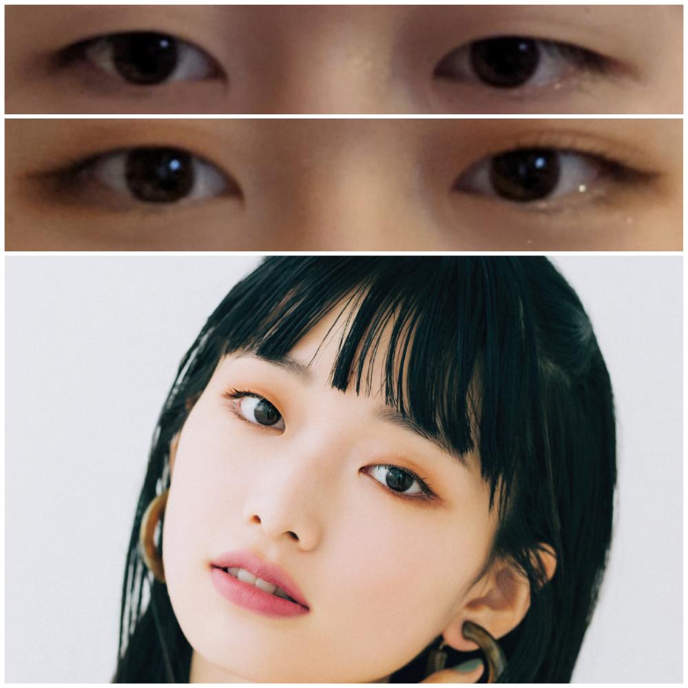 【目の写真注意】 一重の目について 私はそこそこ重い一重で悩んでいます。 左目の目なんかはとても重いです。 二重にしたいという思いも特にありません。 ただ、月山京香ちゃん(写真)のようなスッキリ...