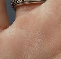 右手の薬指の下に星のようなものが出てます。これってラッキーな手相でしょうか?