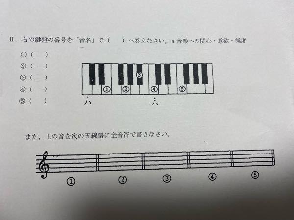 至急お願いします。この音楽の宿題がわかりません。教えてください