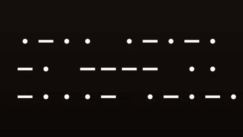 これってモールス信号ですか?だとしたらなんて書いてますか?お願いします!!