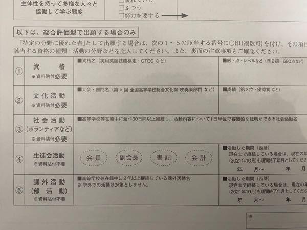 京都産業大学の公募推薦について質問があります。 評定が4.6あるので、総合評価型の方がいいのかと思ってたのですが資格、活動を全くしておらず写真の所で書けるところが1つもないです。総合評価型でこの欄を書かなくても出願する事は可能でしょうか?