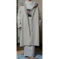 着物のコートについて! 下記の写真のコートは、お洋服用なのですが コーディネイトとして、変ですか?  今袷のコート?がなくて、購入するまでと思っているのですが・・・
