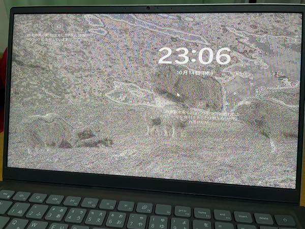 ノートパソコン、初期不良でしょうか? DELLのnew inspiron 14を購入しました。 スリープから開くとこのような砂嵐?のような画面になるのですが、液晶に異常があるのでしょうか? 見づらいですがこのまま操作ができて、再起動すれば治ります。 これは初期不良なのでしょうか? このような症状についてご存知の方いらっしゃいませんか?