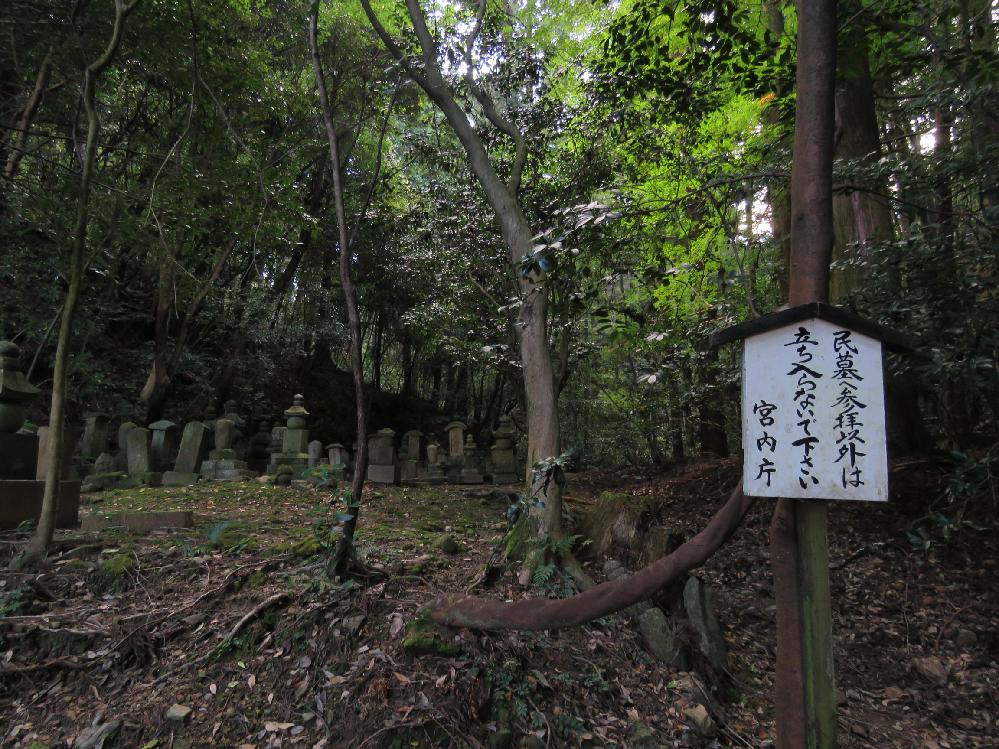 京都観光地マニア、天皇陵、陵墓マニアの方へクイズです。さてこれは何処にある立札でしょうか? ※ヒント 最近移設されました。昔、こんな位置にはありませんでした。
