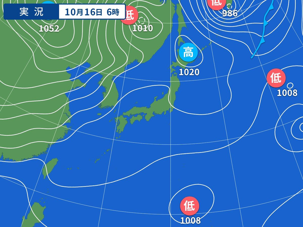 日本の北西方向にある1052hpaの強烈な高気圧は移動性高気圧てすか?