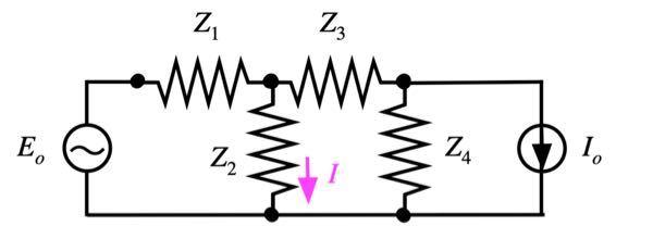 重ね合わせの理を用いて図の回路の電流Iを求める問題が分かりません教えてください