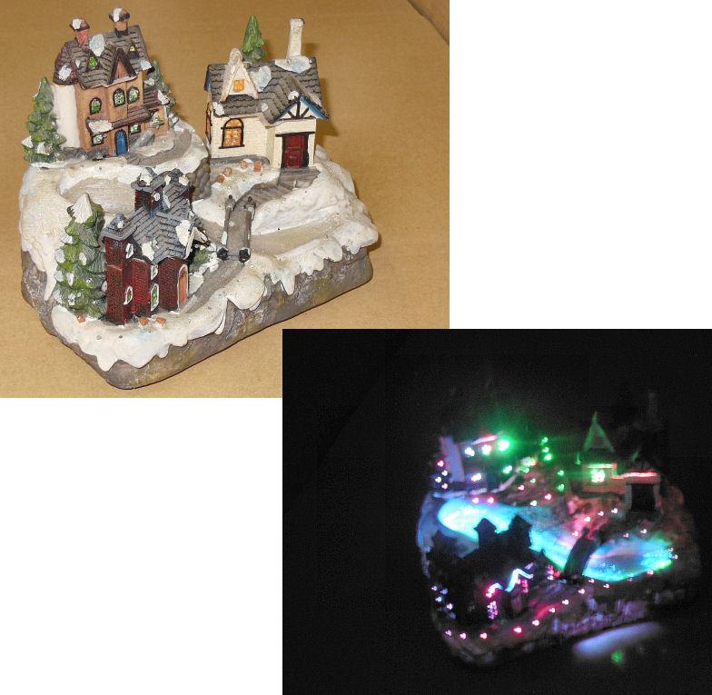 このクリスマスの置物みたいな物の名前が知りたいです。 幅19㎝×奥行き11㎝くらいな小さい物です。