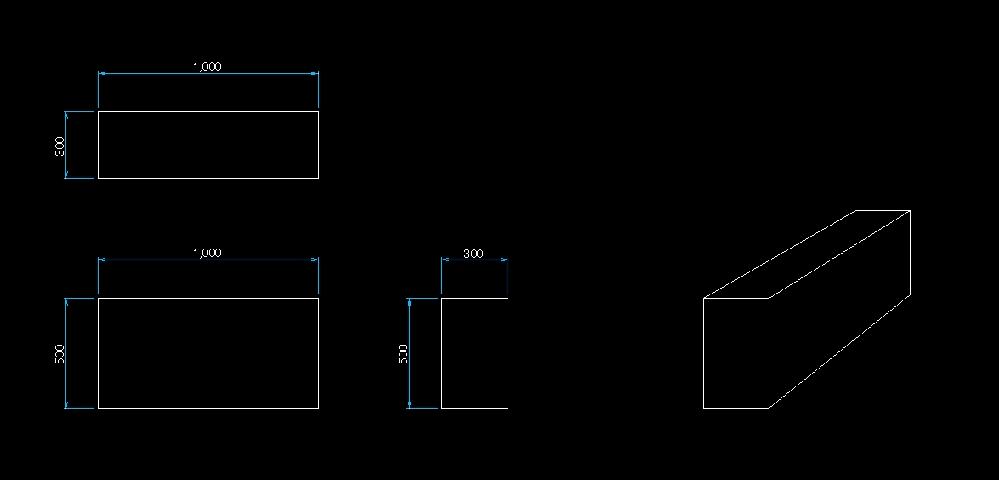 AutoCAD(2021)で、2D・3Dについて教えてください。 3Dを練習中ですが、モデル空間で、平面図(2D)と3Dを一緒に表示(作図)出来るのでしょうか。 (添付のようなイメージです。) 出来るのでしたら方法を教えてください。 宜しくお願いいたします。
