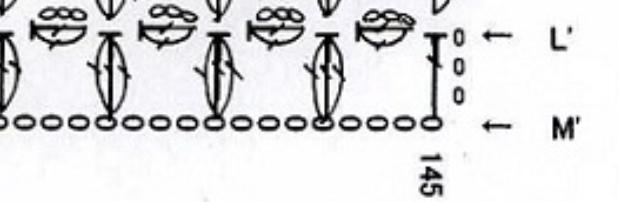 作り目 立ち上がり三目 長編み の次の記号はどのように編むのでしょうか 普通に鎖編み三目?玉編みっぽい部分は何を表していますか