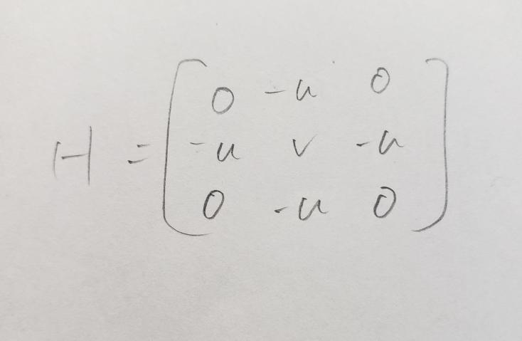 この行列の固有値と固有ベクトルを教えてください