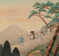 日蓮正宗の身延離山の大ご本尊かついでる日興上人の富士に向かう絵ですがこれって最近のものではないのでしょうか。絵がきれいすぎて昔のものではないように思えます。いつ誰が書いたのかも知ってい方お願い致します 。