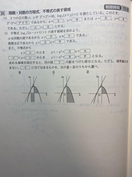 至急、下の写真の数学の問題の解答解説をお願いします!