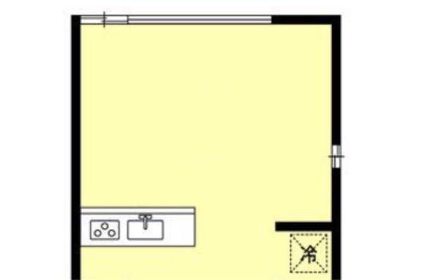 1LDKで一人暮らしの予定です! センスのない私に画像のように窓があるときのレイアウト例を教えていただきたいです。。 窓は床まであるのではなく、下から1mくらい高いところから窓がついているような...