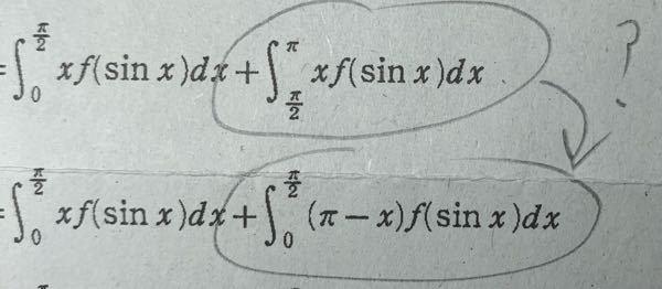 数学Ⅲについて 2つの丸で囲った部分の値が等しい理由を教えてください。