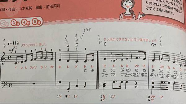 こぶたぬききつねねこの楽譜なのですが、弾き語りをするため歌だしの合図をどこからやればいいのかわかりません。ミレドのミから「いちーにーさんーはい」って初めればいいんですか?(どうぞは無視してください)