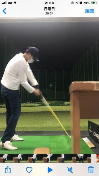 ゴルフドライバーのインパクトの瞬間です。 球筋はどうだったと思いますか?