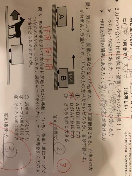物理基礎です。問7これ意味がわかりません。何故同じ大きさなのでしょうか?