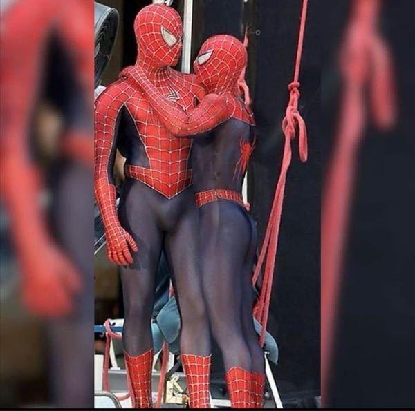 スパイダーマンこれは何をしてるんでしょうか。。?ほも?