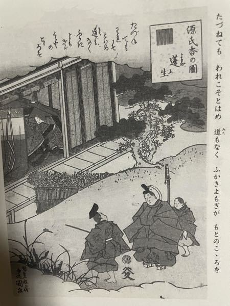源氏物語のこの画像の人物はだれか教えください