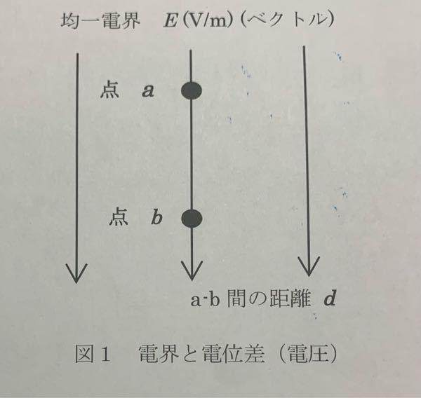空気中ではE>=300000V/mにて放電現象が生じ、落雷となる。距離d=1000m(a点 雲の高さ)のとき、地上(b)に対する雲の電位差を教えてください