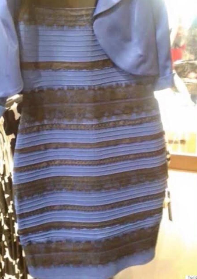 青黒か白金に見えるというドレスの画像を見たのですが、どうしても青金にしか見えません。何故なんでしょうか。色の錯覚にしても、この組み合わせが話題に無かったので不思議に思って。
