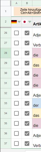 スプレッドシートのチェックボックスをボタンを使って一括true,Falseがしたいです。 どんなマクロを作成すればよいでしょうか? A列とB列それぞれにtrue,Falseのボタンを作って操作したいです。 ほかのシートも複製したときに同様な操作ができるようにしたいです。