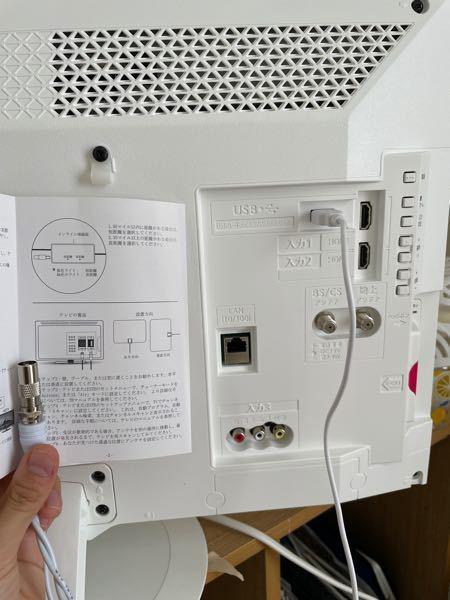 テレビのアンテナを購入したのですがこのケーブルの指す場所が分かりません。キャップ部分のようなものが取り外し可能なケーブルです。 ANTAN CABLEIN に接続している図が書かれていますがうちのテレビにはないようです。新しい部品がいるのでしょうか。 アンテナはROBINER 室内アンテナ テレビは シャープ 24V型 AQUOS 2T-C24ADW 2018年型 のものです。