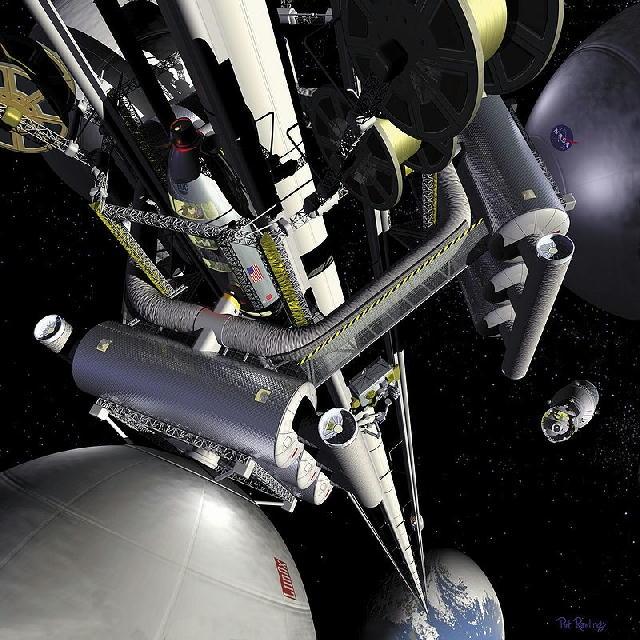 宇宙エレベータって、いつになったら実現するのですか?。 もし実現したら地球から宇宙ステーションまで、どれくらいの時間でいけるのですか?。