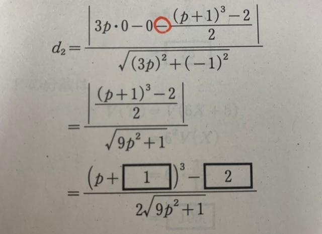 数学の質問です。 写真のときに赤く囲った-を無視できるのは絶対値内だからですか?