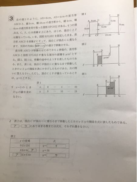 下の写真の問題が分かりません。関数の問題です。2番の解き方を教えてください!!出来れば分かりやすくお願いします。