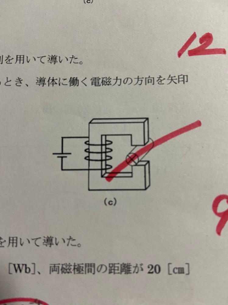 電気基礎詳しい方この電磁力の向きを教えていただけないでしょうか?お願いしますm(_ _)m