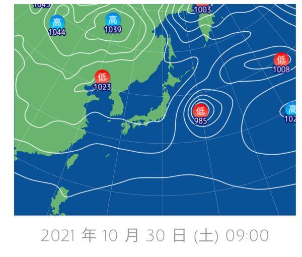 10/30 この気圧配置から神奈川県の天気を予想してください。理由も添えてお願いします!