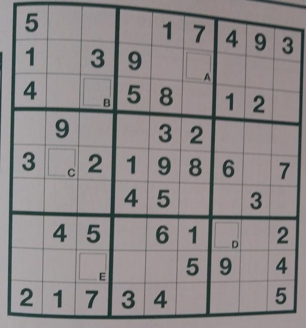 このナンバープレイス解いてください。
