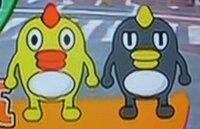 日本テレビの早朝ニュース「oha4」、天気予報に登場するキャラクターの名前は? 黄色と灰色の二人です。いろいろと調べてみましたが分かりません。