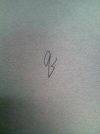 筆記体の「q(小文字のQ)」の書き方って写真の書き方で合ってますか? もしも違ったら正しい書き方を教えてください