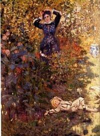 このモネの妻カミーユとモネの息子が描かれた絵の詳細を教えてください。 ・作品タイトル(日本語で) ・制作年代 ・所蔵 ・作品のサイズ  私がメモったのは アルジャントゥーユの庭 カミーユとジャン・モ...