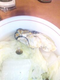冷凍にしていた牡蠣を鍋にしたんですが、写真のように茶色?オレンジ色?になっています。 これは食べられますか?