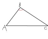図の三角形での∠ABCとはどこのことでしょうか? ここらしいのですが、どうしてここになるんですか???  ∠ABCってくらいだから、A,B,Cすべてかと思ったんですが・・・。