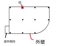 RC造の構造について 少し前にRC造4階建ての施設の建設現場見学に行った際、 設計者の方から設計図面などの資料を頂きました  それの建物の図面なんですが、平面図では大雑把に書くとこんな感じでした ※柱の数や内部の壁など大半は省略してます  ラーメン構造の柱配置ですが、曲線の部分は壁のみで支えているのですか? 全体的にはラーメン構造だけど、曲線部だけ壁式ですよ、 って感じになっ...