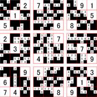 ナンプレの数字がひとつも埋められません(T_T) とりあえず画像の状態からまっっったく進めません。まず、どこに注目すればいいのか教えてください。 できればその後もポイントとなる所など教えてください(^^)