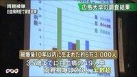 【「両親被爆」に多い発症 広島の「被爆2世」~広島大「白血病」調査】 http://www.47news.jp/47topics/e/229942.php  広島原爆で被爆した親を持つ「被爆2世」のうち、 原爆投下後10年以内に生まれ、35歳までに白血病を発症したケースは、 両親とも被爆した2世が少なくとも26人に上り、 父親のみ被爆の6人、 母親のみ被爆の17人に比べて、 多...