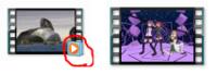 動画アイコンのサムネイル表示がおかしい。 動画のサムネイル表示で普通は右下にアイコン(下の画像の左側の赤い丸のところ)が表示されるのですが、私のパソコンではそのアイコンが表示されません。どうしてです...