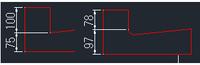 フィレットによる寸法線の変化について AutoCAD LT2011で製図を学び始めた者です  画像左側の一辺にフィレット(r=20)をかけたところ  寸法線が画像右側のように変化してしまいました(100と75が78と97に...